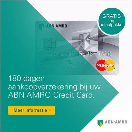 abn amro creditcard actie