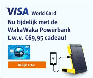 visa creditcard met powerbank