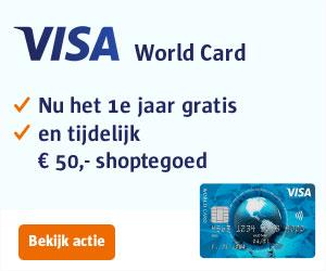 visa world card credit card aanvragen - 1 jaar gratis en 50 euro shoptegoed
