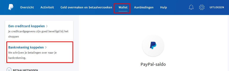 paypal zonder creditcard